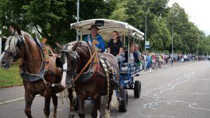 """""""Völlig entschleunigt"""" – Claudia Cavedon wird mit einem Pferdegespann in den Ruhestand kutschiert"""